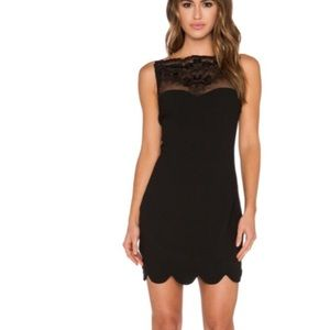 Black mini dress with amazing lace detail!